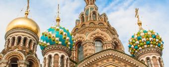 Bunte Türme in St. Petersburg