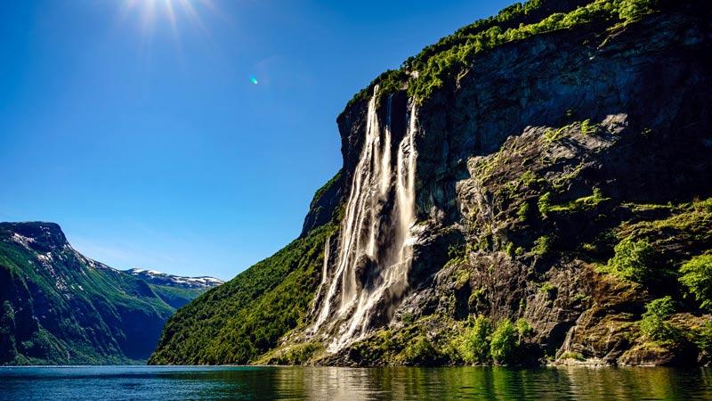 Wasserfall Seven Sisters, Gejranger Fjord, Norwegen