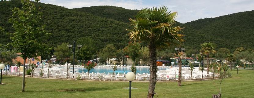 Die Anlage des Maslinica Resorts an der Küste von Rabac.