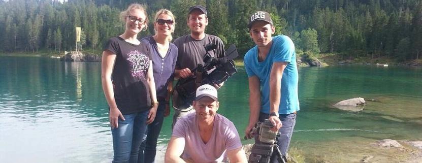 Das Sonnenklar.TV Team in Graubünden