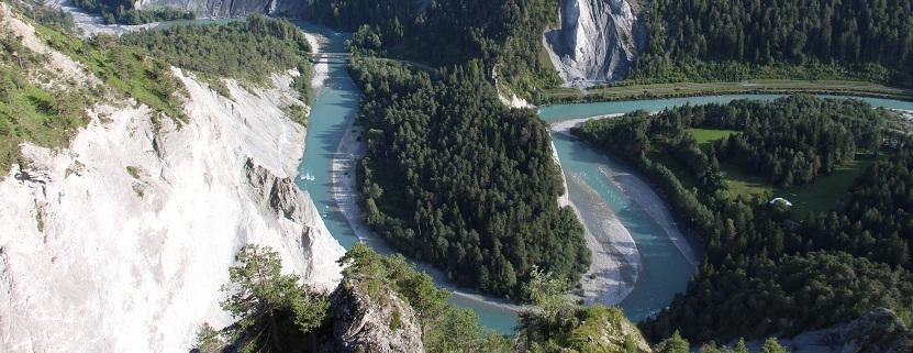 Die Rheinschlucht in Graubuenden
