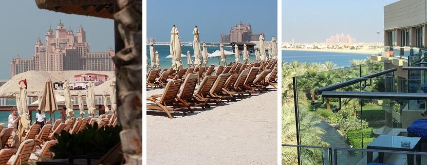 Ob am Hotelstrand oder auf dem Balkon – das Atlantis ist allgegenwärtig auf der Palme.