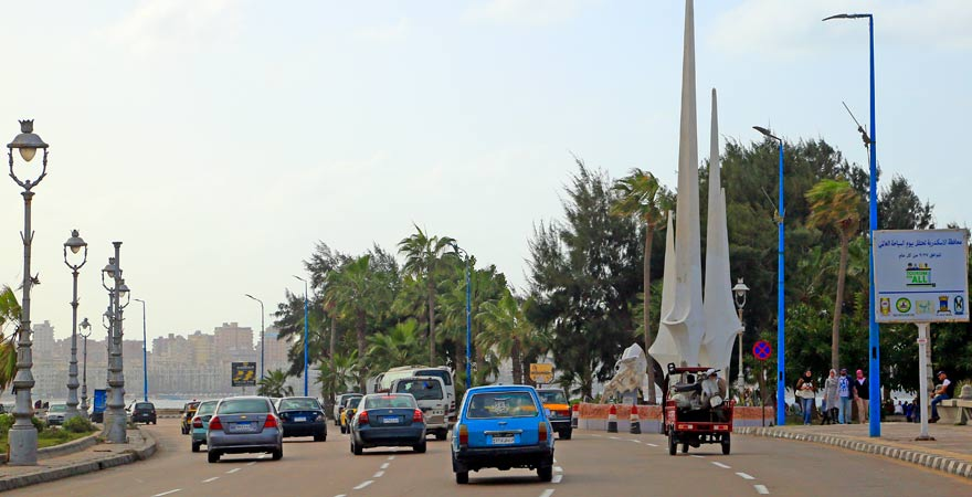 Eine neue Straße in Ägypten