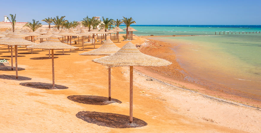 Der Strand von Hurghada