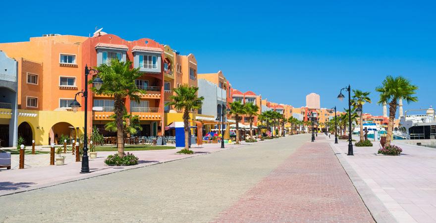 Die Marina ist auf jeden Fall ein Highlight bei einem Stadtrundgang durch Hurghada