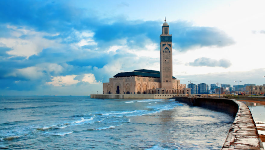 Hassan II Mosque in Marokko