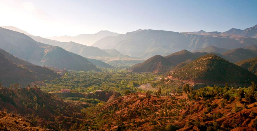 Panorama aufs Ourika-Tal im Atlasgebirge