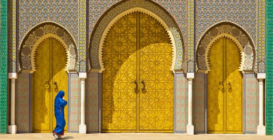 Goldene Türen in Fes, Marokko