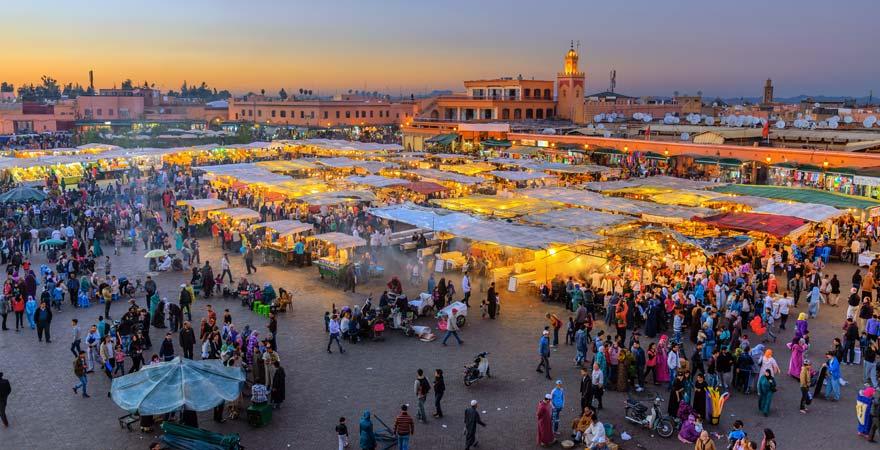 Gauklermarkt Djemaa el Fna, Marrakesch
