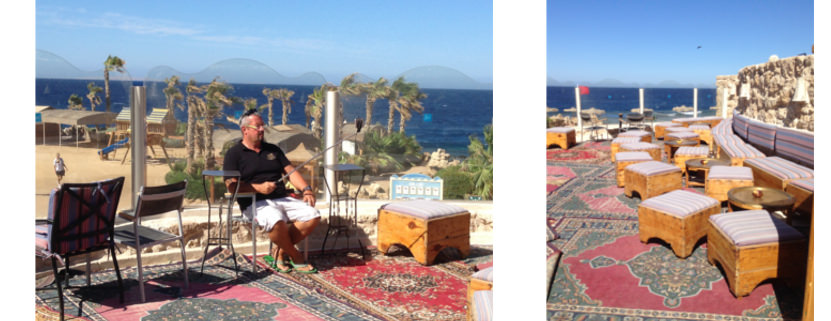 Der Shisha-Corner im Albatros Citadel Resort
