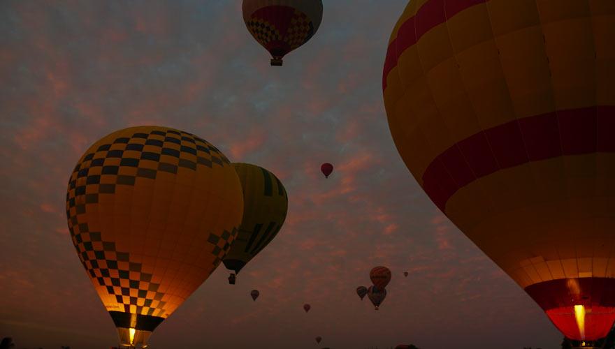 Ballonfahrt über Luxor