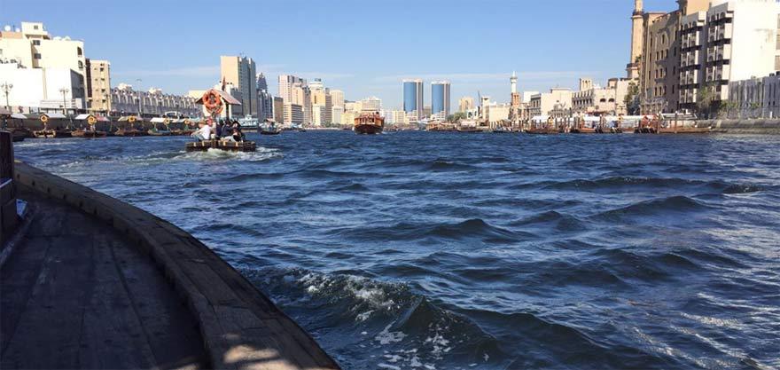 Dirk auf Bootstour in Dubai