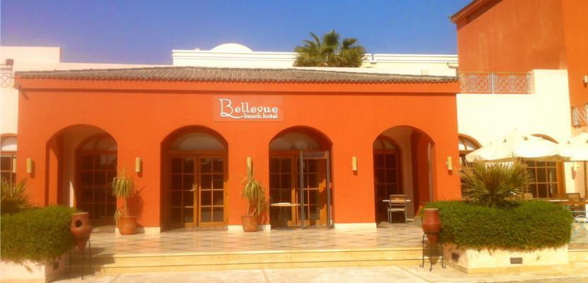 Eingang zum Bellevue Beach Hotel