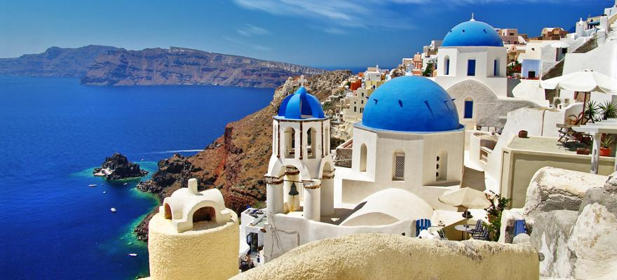 Die griechische Insel Santorin