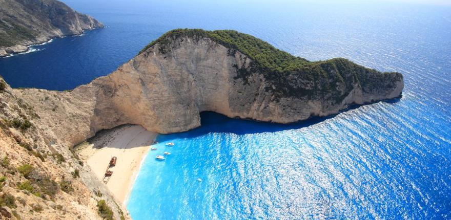 Schmugglerbucht auf der griechischen Insel Zakynthos