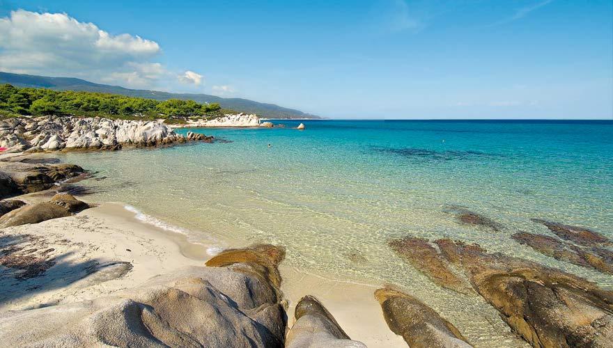 Strand auf Chalkidiki in Griechennland