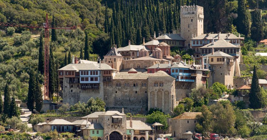 Athos auf der griechischen Insel Chalkidiki