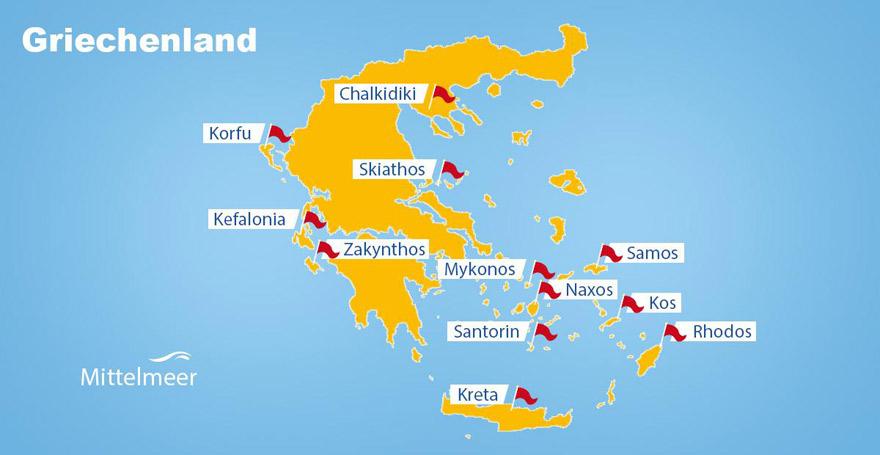 Rhodos Karte.Top 9 Griechische Inseln Welche Ist Die Richtige Der Sonnenklar