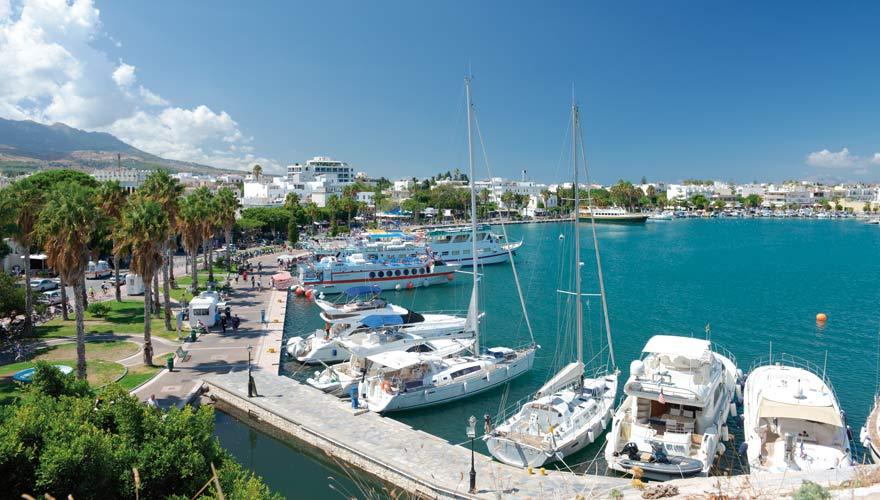 Hafen in Kos-Stadt auf der griechischen Insel Kos