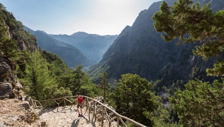 Die Samaria-Schlucht ist beliebt bei Wanderern auf der griechischen Insel Kreta