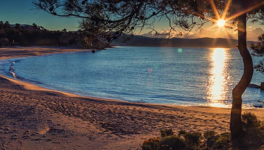 Tripiti-Beach auf der griechischen Insel Thassos