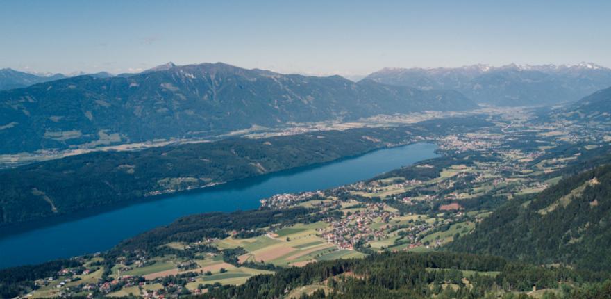 Millstätter See von oben