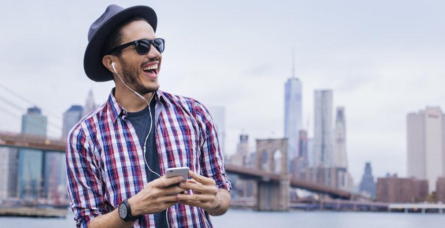 Mann in New York