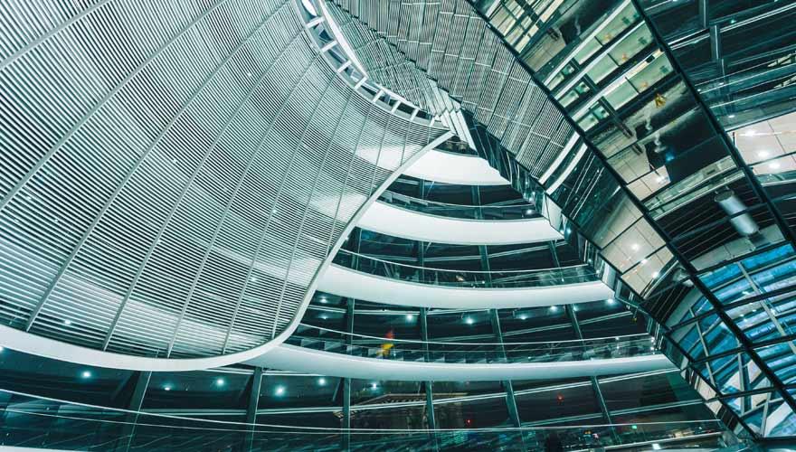 Glaskuppel des Berliner Reichstags