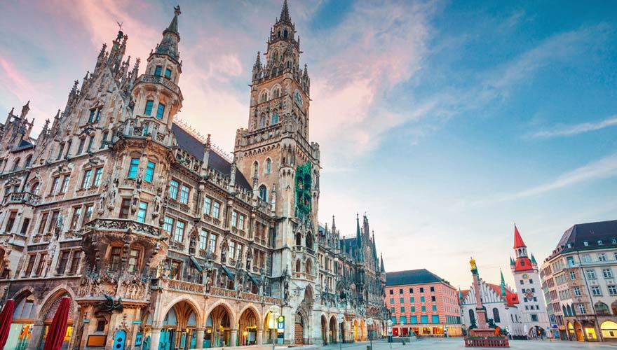 Altes Rathaus in München am Marienplatz.