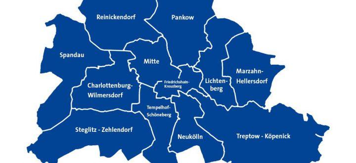 Karte Bezirke in Berlin