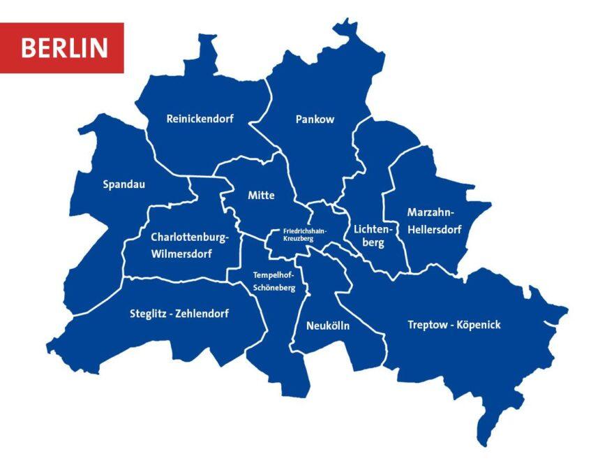 Karte Kieze in Berlin