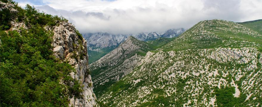 Gebirge in Dalmatien in Kroatien