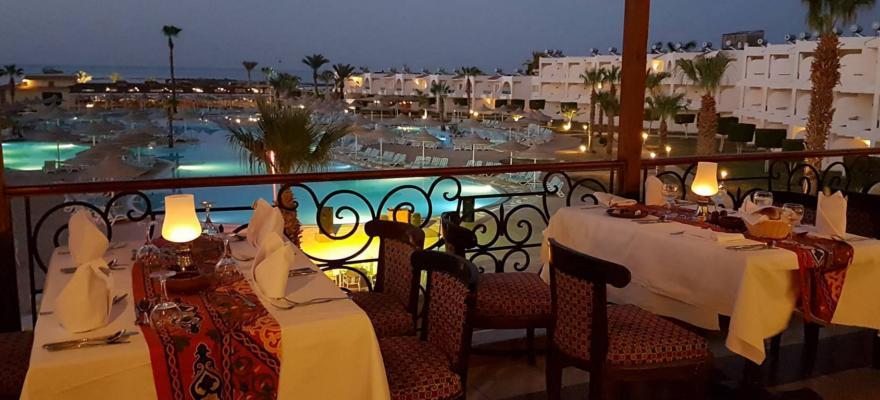 Blick vom orientalischen Restaurant LaBranda