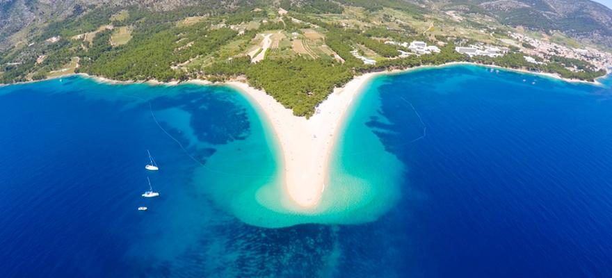 Strand goldenes Horn in Kroatien
