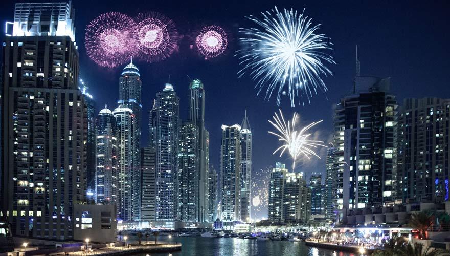 Dubai Marina an Silvester