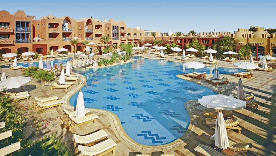 Poolbereich imSheraton Miramar Resort El Gouna