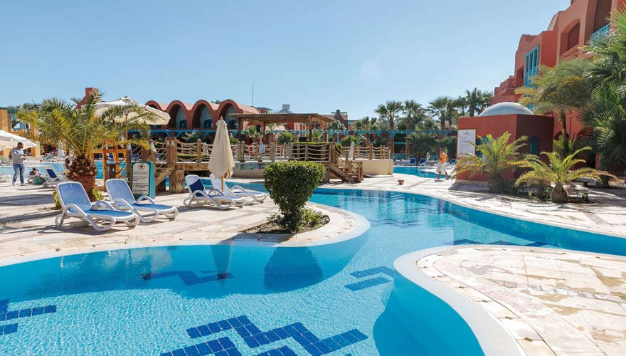 Pool vom Sheraton Miramar Resort El Gouna