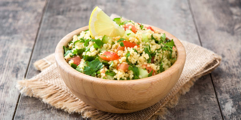 Couscous-Salat ist in Ägypten ein typisches Gericht
