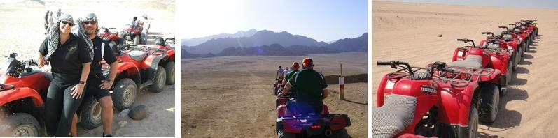 Quad-Tour durch die Wüste in Ägypten