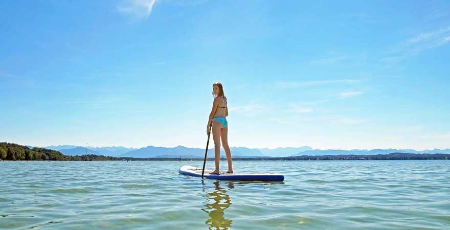 Stand-up-Paddling auf dem Starnberger See