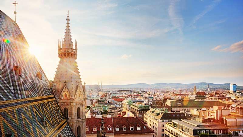 Panorama auf Wien vom Stephansdom aus