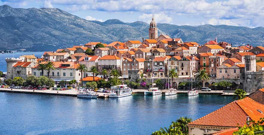 Insel Korčula im Panorama