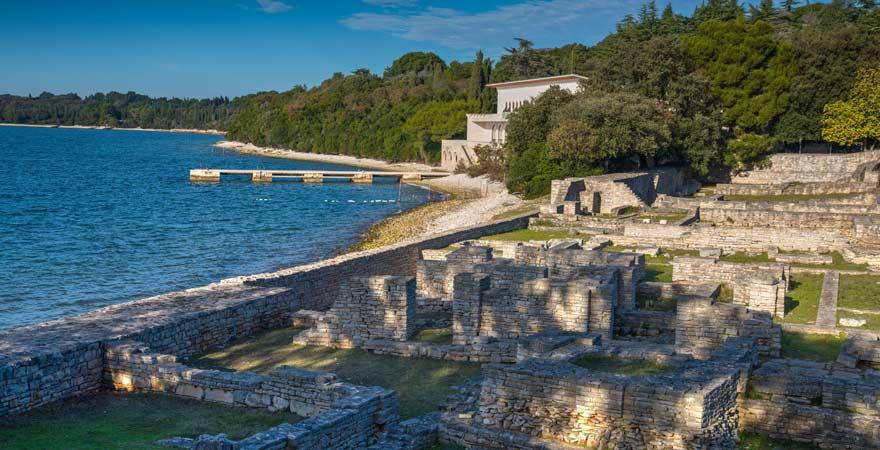 Römische Ruinen auf Veli Brijun