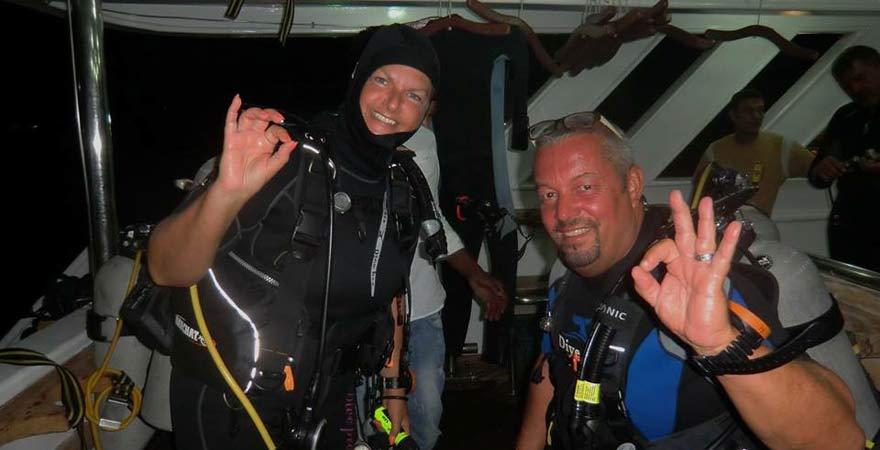 Astrid und Andreas beim Tauchen im Roten Meer