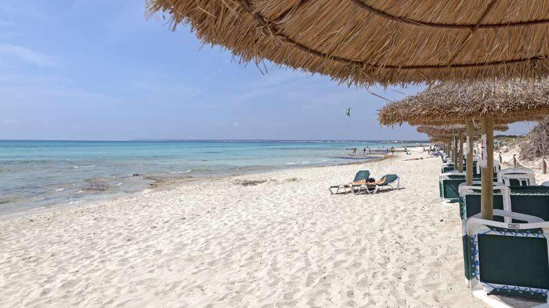 Der Strand von Es Trenc auf Mallorca