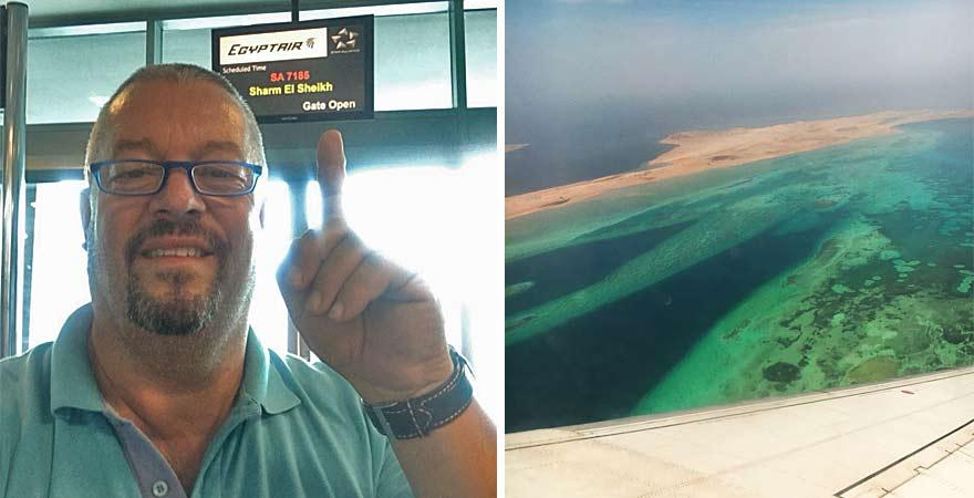 Andreas fliegt nach Sharm el Sheikh