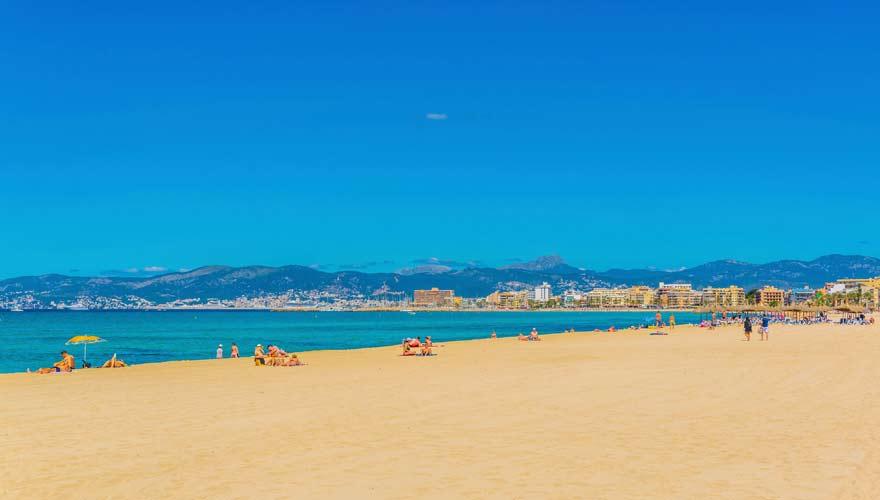 Panorama von Playa de Palma in Palma de Mallorca