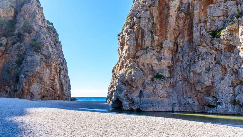 Canyon des Torrent de Pareis auf Mallorca