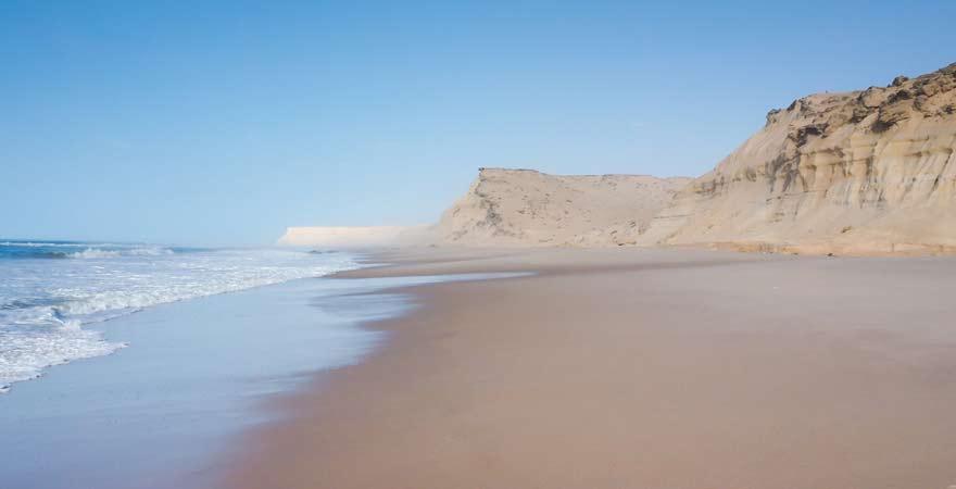 Strand von Dakhla, Marokko