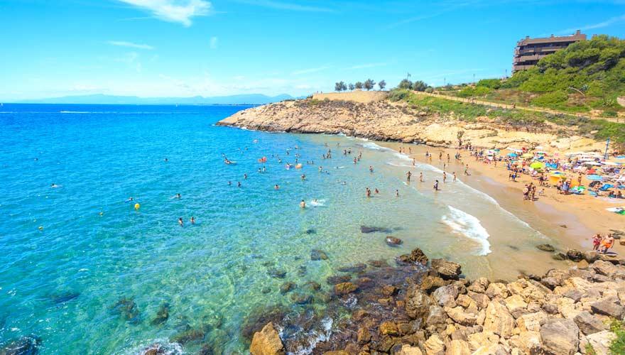 Schöner Strand in Salou an der Costa Daurada